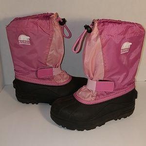 Sorel Girls Winter Boots Snow Otter Pink Size 1